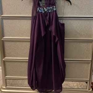 Beautiful purple and teal AFTER 5 dress